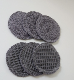 Kosmetikpads , Abschminkpads aus Baumwolle ,waschbar - wiederverwendbar , 8 cm - Handarbeit kaufen