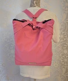 Rucksack aus Baumwolle in Rosa , Wasser und Schmutzabweisender Stoff, Handmade by la piccola Antonella - Handarbeit kaufen