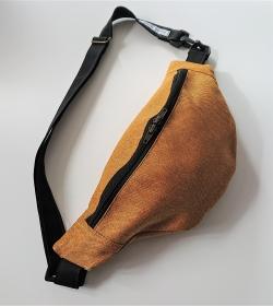 Bauchtasche in golden yellow , gelb ,  auch als Crossbag Umhängetasche tragbar , verstellbarer Tragegurt mit Karabiner , Gr. L, Handmade by la piccola Antonella - Handarbeit kaufen