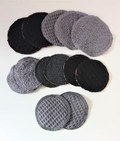 Kosmetikpads , Abschminkpads aus Baumwolle  , Pads - wiederverwendbar - waschbar -  Set mit zwei Größen, handmade by la piccola Antonella - Handarbeit kaufen