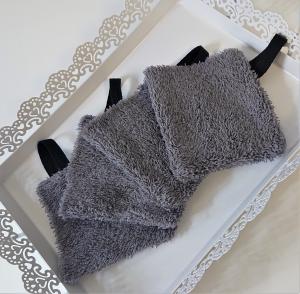 Mini Waschlappen , Kosmetikpads , Abschminkpads , aus Baumwolle / Frottee - wiederverwendbar - waschbar  - Set mit 4 Stück -  Handmade by la piccola Antonella - Handarbeit kaufen