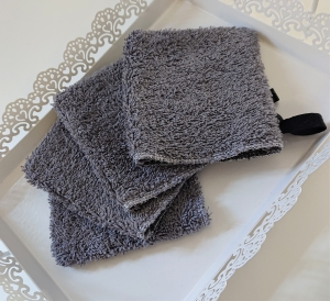 Kosmetikpads , Abschminkpads , mini Waschlappen aus Baumwolle  - waschbar  - Set mit 4 Stück -  Gr. 10 x 11 cm, Handmade by la piccola Antonella - Handarbeit kaufen