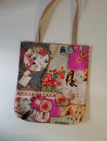 Einfacher Shopper , Einkaufstasche, Beutel mit verspielten Motiven, Handmade by la piccola Antonella - Handarbeit kaufen