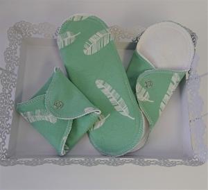 Waschbare Slipeinlagen / Binden aus Baumwolle, 3 Stück, Zero Waste, handmade by la piccola Antonella