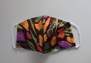 Mund - und Nasen - Maske mit Gemüse aus Baumwolle , Molton, waschbar, 1 Stück , KEIN Virenschutz , handmade by la piccola Antonella