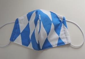 Mund - und Nasen - Maske  aus Baumwolle, Molton,  waschbar, 1 Stück , KEIN Virenschutz , handmade by la piccola Antonella - Handarbeit kaufen