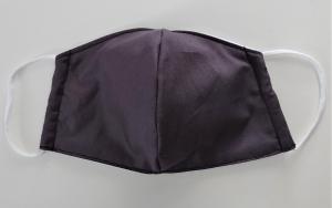 Mund - und Nasen - Maske in dunkelgrau aus Baumwolle, Molton, waschbar, 1 Stück, KEIN Virenschutz , handmade by la piccola Antonella