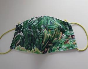 Mund - und Nasen - Maske  aus Baumwolle, Molton, waschbar, 1 Stück , KEIN Virenschutz , handmade by la piccola Antonella