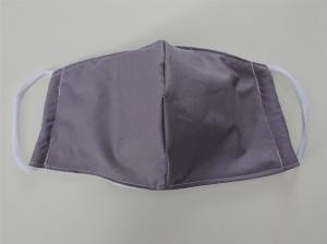 Mund - und Nasen - Maske in hellgrau aus Baumwolle, Molton, waschbar,  KEIN Virenschutz , handmade by la piccola Antonella