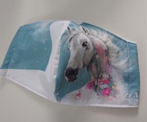 Mund - und Nasen - Maske  mit Tiermotiv aus Baumwolle , Molton, waschbar, 1 Stück , KEIN Virenschutz , handmade by la piccola Antonella - Handarbeit kaufen