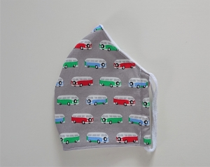 Mund - und Nasen - Maske für Schul Kinder aus Baumwolle , Molton, waschbar, 1 Stück , KEIN Virenschutz , handmade by la piccola Antonella