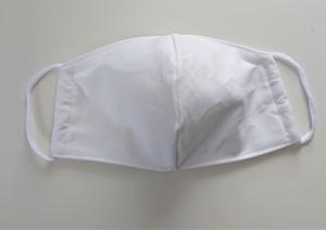 Mund - und Nasen - Maske in weiß aus Baumwolle , Molton, waschbar, 1 Stück , KEIN Virenschutz , handmade by la piccola Antonella - Handarbeit kaufen