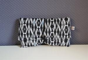 Universaltäschchen, Reiseetui, Clutch, Kosmetiktasche in schwarz weiß, handmade by la piccola Antonella - Handarbeit kaufen