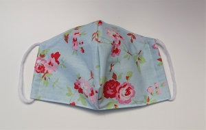 Mund - und Nasen - Maske 2 lagig aus dünner Baumwolle , mit Blumen,  KEIN Virenschutz , handmade by la piccola Antonella