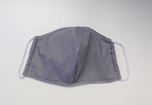 Mund - und Nasen - Maske 2 lagig aus dünner Baumwolle , uni grau , KEIN Virenschutz , handmade by la piccola Antonella - Handarbeit kaufen
