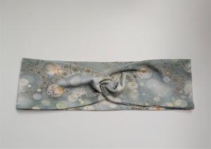 Stirnband , Knotenstirnband, Turbanstirnband, Bandeau, Haarband mit Mandala Motiv, handmade by la piccola Antonella - Handarbeit kaufen