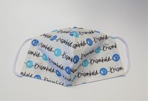 Mund - und Nasen - Maske  Krisenheld aus Baumwolle , Innenstoff dünne Baumwolle, waschbar, 1 Stück , KEIN Virenschutz , handmade by la piccola Antonella - Handarbeit kaufen