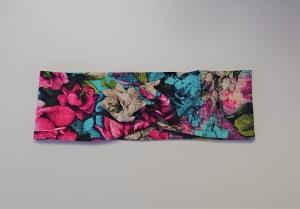 Stirnband , Knotenstirnband, Turbanstirnband, Bandeau, Haarband FlowerGarden, handmade by la piccola Antonella - Handarbeit kaufen