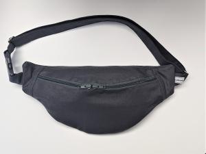 Bauchtasche in uni dunkelgrau, tragbar auch als Crossbag, Umhängetasche, handmade by la piccola Antonella - Handarbeit kaufen