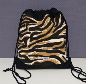 Turnbeutel, Festivaltasche, Rucksack im Tiger Design , Handmade by la piccola Antonella - Handarbeit kaufen
