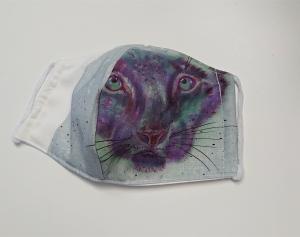 Mund - und Nasen - Maske  mit Tiermotiv Katze , Innenstoff dünne Baumwolle, waschbar, 1 Stück , KEIN Virenschutz , handmade by la piccola Antonella - Handarbeit kaufen