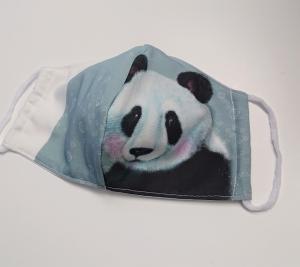 Mund - und Nasen - Maske  mit Tiermotiv Panda , Innenstoff dünne Baumwolle, waschbar, 1 Stück , KEIN Virenschutz , handmade by la piccola Antonella - Handarbeit kaufen