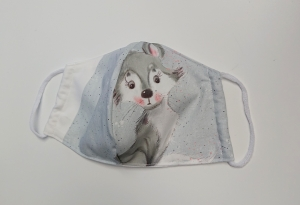 Mund - und Nasen - Maske  mit Tiermotiv  , Innenstoff dünne Baumwolle, waschbar, 1 Stück , KEIN Virenschutz , handmade by la piccola Antonella - Handarbeit kaufen