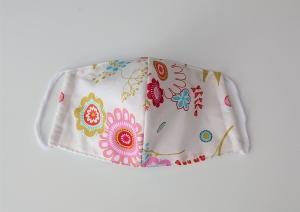 Mund - und Nasen - Maske 2 lagig aus dünner Baumwolle , mit Blumen,  KEIN Virenschutz , handmade by la piccola Antonella - Handarbeit kaufen