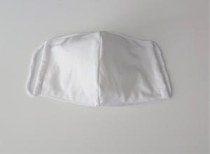 Mund - und Nasen - Maske 2 lagig in uni weiß aus dünner Baumwolle , KEIN Virenschutz , handmade by la piccola Antonella - Handarbeit kaufen