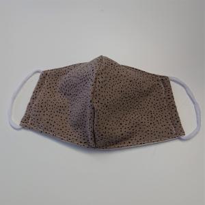 Mund - und Nasen - Maske in khaki braun , 2 lagig aus dünner Baumwolle  , KEIN Virenschutz , handmade by la piccola Antonella