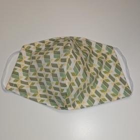 Mund - und Nasen - Maske in grün gelb, 2 lagig aus dünner Baumwolle  , KEIN Virenschutz , handmade by la piccola Antonella - Handarbeit kaufen