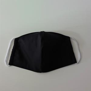Mund - und Nasen - Maske in uni schwarz, 2 lagig aus dünner Baumwolle  , KEIN Virenschutz , handmade by la piccola Antonella - Handarbeit kaufen
