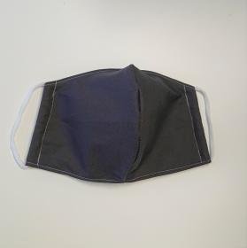 Mund - und Nasen - Maske in dunkelgrau, 2 lagig aus dünner Baumwolle  , KEIN Virenschutz , handmade by la piccola Antonella - Handarbeit kaufen