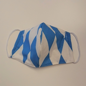Mund - und Nasen - Maske mit bayerischer Raute, 2 lagig aus dünner Baumwolle  , KEIN Virenschutz , handmade by la piccola Antonella - Handarbeit kaufen
