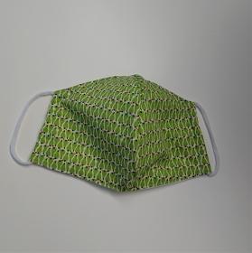 Mund - und Nasen - Maske mit Birnen in grün, 2 lagig, dünne Baumwolle , KEIN Virenschutz , handmade by la piccola Antonella - Handarbeit kaufen