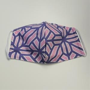 Mund - und Nasen - Maske in lila rosa, 2 lagig aus dünner Baumwolle  , KEIN Virenschutz , handmade by la piccola Antonella - Handarbeit kaufen