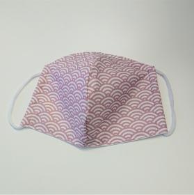 Mund - und Nasen - Maske mit Bögen in rosa und weiß, 2 lagig aus dünner Baumwolle  , KEIN Virenschutz , handmade by la piccola Antonella