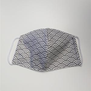 Mund - und Nasen - Maske mit Bögen in grau und weiß, 2 lagig aus dünner Baumwolle  , KEIN Virenschutz , handmade by la piccola Antonella - Handarbeit kaufen