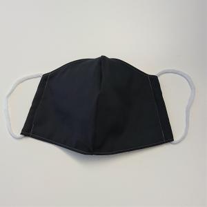 Mund - und Nasen - Maske uni schwarz und beige, 2 lagig aus dünner Baumwolle  , KEIN Virenschutz , handmade by la piccola Antonella - Handarbeit kaufen