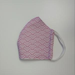 Mund - und Nasen - Maske für Schul Kinder mit Bögen in rosa, dünne Baumwolle, waschbar, 1 Stück , KEIN Virenschutz , handmade by la piccola Antonella - Handarbeit kaufen