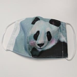 Mund - und Nasen - Maske für Schul Kinder mit Panda, dünne Baumwolle, waschbar, 1 Stück , KEIN Virenschutz , handmade by la piccola Antonella - Handarbeit kaufen