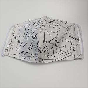 Mund - und Nasen - Maske Geometrie aus Baumwolle , Innenstoff dünne Baumwolle, waschbar, 1 Stück , KEIN Virenschutz , handmade by la piccola Antonella