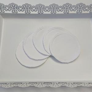 Kosmetikpads , Abschminkpads aus Baumwolle in uni weiß, waschbar - wiederverwendbar , Set mit  5 Stück in 8 cm, handmade by la piccola Antonella - Handarbeit kaufen