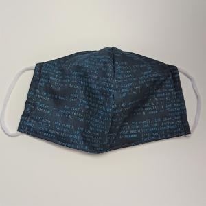 Mund - und Nasen - Maske mit Computerschrift, dünne Baumwolle, 2 lagig, 1 Stück , KEIN Virenschutz , handmade by la piccola Antonella - Handarbeit kaufen