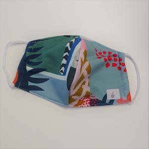 Mund - und Nasen - Maske mit buntem Muster, 2 lagig , KEIN Virenschutz , handmade by la piccola Antonella    - Handarbeit kaufen