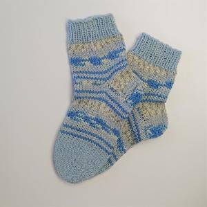 Gestrickte dicke Socken, Gr. 38/39 aus 8 fädiger Sockenwolle, Wollsocken, Kuschelsocken, handgestrickt von la piccola Antonella  - Handarbeit kaufen