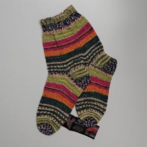 Gestrickte bunte Socken , Gr. 38/39, Wollsocken, Kuschelsocken, handgestrickt, la piccola Antonella   - Handarbeit kaufen