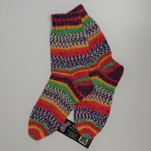 Gestrickte bunte Socken , Gr. 38/39, Wollsocken, Kuschelsocken, handgestrickt, la piccola Antonella