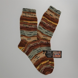 Gestrickte Socken in braun beige für den Mann, Gr. 42/43, Wollsocken, Kuschelsocken, handgestrickt, la piccola Antonella