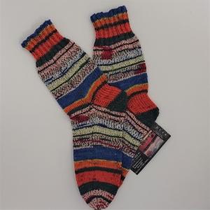 Gestrickte Socken in bunt, Gr. 40/41, Wollsocken, Kuschelsocken, handgestrickt, la piccola Antonella  - Handarbeit kaufen